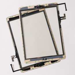 Wholesale Ipad Screen Panel - Brand new For iPad Air assembly For IPAD 5 Touch screen panel Digitizer completed with home button +flex cable +camera holder