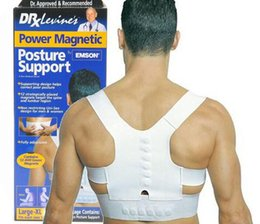 Wholesale Lumbar Supports Wholesale - Adjustable Magnetic Therapy Posture Support Corrector Correction Body Back Pain Lumbar Belt Shoulder Brace Shoulder support 200pcs