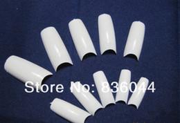 Wholesale Uv Gels Shop - Wholesale- Free shopping 500pcs Natural White Tips French False Acrylic UV Gel Salon Design Nail Art Manicure DIY
