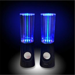 Musik-wasserlampen online-Heißer Verkauf Wasser Musik Lautsprecher 2 in1 USB Mini Wasser Lautsprecher Bunte Wassertropfen Zeigen Sensor mit LED Lampe Licht Tanzen Lautsprecher