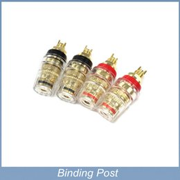 Wholesale Gold Plated Binding Posts - Free shipping 4pcs lot Free shipping 4pcs lot Banana Binding Post Jack Gold Plated Speaker Plug