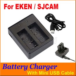 Per la fotocamera originale SJCAM EKEN caricabatteria doppio slot caricabatteria per batteria di ricambio per SJ4000 SJ5000 serie M10 H9 H9 + fotocamera sportiva DHL libero da