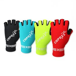 Wholesale Hockey Gloves For Skiing - Copozz Brand New GEL Men's Half Finger Cycling Gloves Bike Bicycle Shockproof Glove Mittens For Outdoor Sports Free Shipping