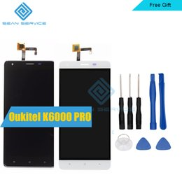 """Wholesale Iphone Lcd Original Screen - Wholesale- For Oukitel K6000 Pro 100% Original LCD Display and TP Touch Screen Digitizer Assembly +Tools 5.5"""" 1920x1080P Oukitel K6000 Pro"""