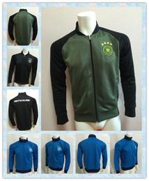 copo de casaco preços - Fast 2016 Copa da Europa Alemanha Preto Azul Cinza Verde Casacos roupas para fora casaco de treino Futebol Camisa Treino Suit futebol Jacket Jersey