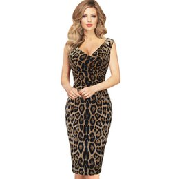 Wholesale Hot New Leopard - 2017 Hot new European and American fashion spring and summer women dress sleeveless leopard pencil skirt