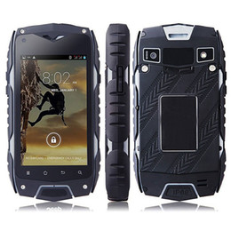 Wholesale Android Phone 512 Ram - 4 Inch Z6 IP68 Dual core Waterproof cell phone MTK6572 8MP 4GB Rom 512 Ram GPS 3G Waterproof Dustproof Shockproof Outdoor Phone