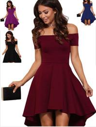 6650d30712 Fall Burgundy high low skater dress plus size women clothing summer 2017  new style mini dress drop shoulder casual dresses curvy women