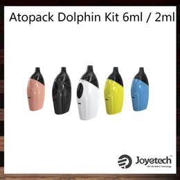 Wholesale Wholesale Dolphins - Joyetech Atopack Dolphin Starter Kit 2.0ml   6.0ml Cartridge Capacity Innovative JVIC Coil System 2100mah Battery 100% Original