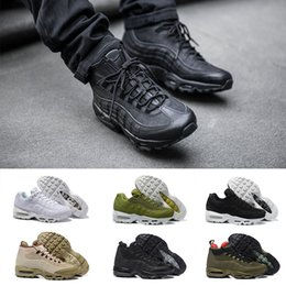 Wholesale Outdoor Boot Box - (with box) 2018 new AAA+ Quality AIR 95 Men OG Cushion Black Sport Walking Boots Men Running Shoes Sneakers