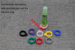 Wholesale Ego Cigarette Batteries Decorative - free shipping to USA UK Canada Silicone Vape Rings Rubber Electronic Cigarette Vape Bands ego ce4 atomizer battery silicone decorative ring