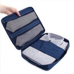 Wholesale Wholesale Shirt Fabric - Wholesale- Fashion Multifunctional Travel Waterproof Storage Bag Portable Type Shirt And Tie Finishing Package Organizer