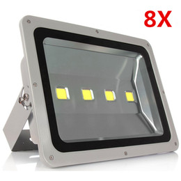 Types de projecteurs menés en Ligne-Vente en gros- 8pcs / lot Ultrathin Led Flood Light 200W Led Floodlight Nouveau type Gris Shell AC85-265V Led Spotlight Éclairage extérieur DHL Free