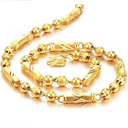 Wholesale Singapore Fines - Fine Necklace JEWELLERY 18K Gold plated Necklace Chian HIGH QUALITY beautiful Gift For cool men FREE SHIPPING
