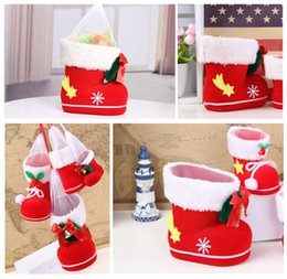 Wholesale Candy Gifts Baskets - Christmas Candy Bags, Santa Gift Bags Candy Bag Portable Gift Baskets Xmas Candy Boots Christmas Ornaments Decorations (Size Four)