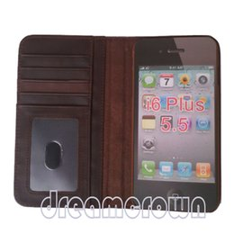 Wholesale Vintage Phone Books - Book Style Luxury Vintage Flip Cover Stand Wallet Leather Case For iphone 6 5.5 Smart Phones