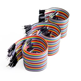 Wholesale Contact Frequency - Wholesale-Dupont line 120pcs 20cm male to male + male to female and female to female jumper wire Dupont cable