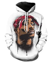 Chaqueta de tupac online-Nueva Moda Parejas Hombres Mujeres Unisex Leyenda Rapper 2pac tupac 3D Imprimir Sudaderas Sudadera Sudadera Chaqueta Pullover Top S-5XL T50