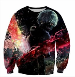 Wholesale Tokyo Ghoul Sweatshirt - Newest Fashion Women Men Anime Tokyo Ghoul Funny 3D Print Crewneck Sweatshirt Fashion Clothing Outfits Jumper casual Tops WYS00028