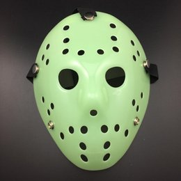 mascara de jason completa Rebajas Máscara de Jason Archaistic Máscara de asesino antiguo de cara completa Jason vs Friday The 13th Prop Horror Hockey Disfraz de Halloween Máscara de Cosplay en stock
