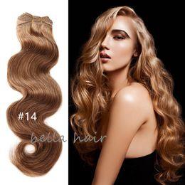 14-24 inç 100% brezilyalı saç 8A 4 adet / grup İnsan saç atkı örgü Vücut dalga 100g / p DHL tarafından ücretsiz kargo cheap brazilian human hair free dhl shipping nereden brezilya insan saçı ücretsiz dhl nakliye tedarikçiler