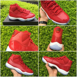 Wholesale Carmelo Anthony Sneakers - Air Retro 11 GS Carmelo Anthony PE Gym Red Men's Shoes For BasketBall Sports Retro 11 Hight Bred Sport Sneakers Trainer Shoes