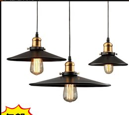 Wholesale North Table - 22*H11cm North American style Vintage nostalgic bar table light bulb black iron pendant lights single bar lamps