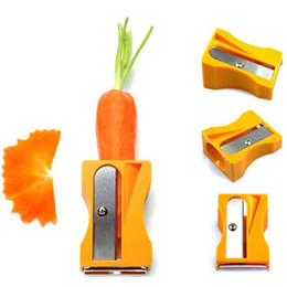Wholesale Cucumber Fruit - Carrot Cucumber Sharpener Peeler Kitchen Gadget Tool Vegetable Fruit Curl Slicer