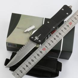 Doppelte tasche online-Automatisches Messer Schneller Transport mit doppelter Aktionspunktklinge T6061 Griff Taschenmesser Survival Knife Weihnachtsgeschenk