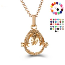 Wholesale Gold Oval Locket Necklace - Women Perfume Fragrance Necklaces Fashion Oval Flower Aromatherapy Locket Essential Oil Diffuser Necklaces & Pendants Women Jewelry