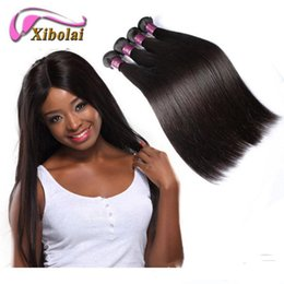 Wholesale 5a Wholesale Virgin Extensions - 5A Virgin Brazilian Hair Silky Straight Human Hair Double Layers Length 8 To 24 Inch Natural Color Hair Extensions DHL Free Shipping