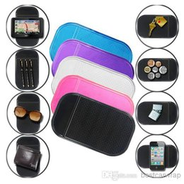 Wholesale Wholesale Sticky Pads For Cars - Black sticky Anti Slip Mat Non Slip Car Dashboard Magic Sticky Pads Mat For Phone stick 1200pcs 7 colors available with package