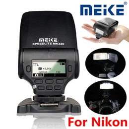 Wholesale Speedlite Ttl - MeiKe MK-320N LCD i-TTL M RPT GN32 mini Speedlite Flash LED Light For Nikon