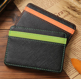 Wholesale Cars Card Holder - Unisex Magic Wallets Money Clip Fashion PU Leather Slim Magic Wallet Car Purse For Men Women Pocket Purse Card Holders Money Clip KKA3126