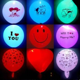 Wholesale Lighting Decoration Products - HOTTEST LED Lights Colorful Flashing Lights Balloons Weddings Weddings Parties Decorations Holiday Products Color Balloons