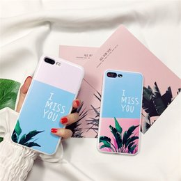 Wholesale Iphone Protection Covers - 5190-113 y 5190-109 full protection silicone case for iphone 7, nice leaf back cover
