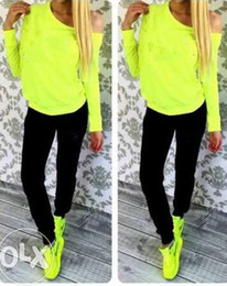 Wholesale Long Sleeve Spot - 2016 fall and winter new fluorescent color cotton color LOGO package for sale spot N10