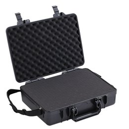 "Wholesale Macbook Messenger - 10""~ 14""Laptop Handle Case Carrying For Ipad Mini Dustproof Waterproof Safety Equipment Instrument Box Moistureproof Locking Camera Laptop"