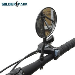Wholesale Order Mirrors - Universal Outdoor Sport Mountain Road Street Bike Mirrors Mini Flat Reflective Safety Cycling Handlebar Bicycle Rearview Mirror order<$18no