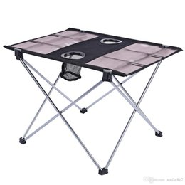 Wholesale Picnic Portable Table - Outdoor Ultralight Folding Table Aluminium Alloy Oxford Fabric Foldable Table For Camping Hiking Picnic Table Portable With Bag Hot +B