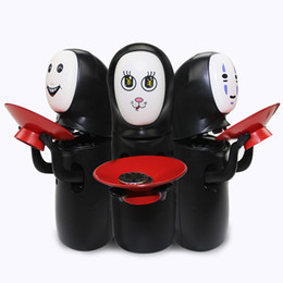 Wholesale Money Piggy Bank Toys - New Miyazaki Hayao piggy bank Spirited Away No Face Money Cans Electric Music Automatic Coins Collection Funny Toys for Kids C2634