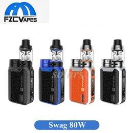 Wholesale Mini Blue - Authentic Vaporesso Swag 80W Starter Kit with 2ml NRG SE Mini 3.5ml NRG SE Tank VS Wismec Sinuous P80 100% Original
