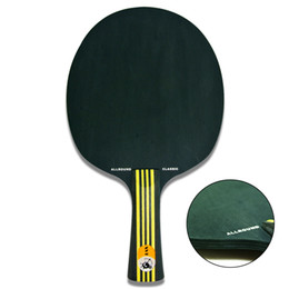Wholesale Ship Wood Table - Wholesale-BLACK WOOD XVT ALLROUND CLLASIC Table Tennis Blade   Table Tennis Racket  table tennis bat Free Shipping
