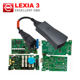 Wholesale Lexia V25 Diagbox - Wholesale-Best quality Lexia 3 Full Chip Firmware Serial No. 921815C  Lexia3 V48 PP2000 V25 For Citroen Peugeot With Newest Diagbox