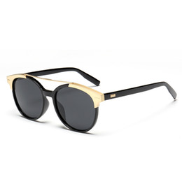 Wholesale Sunglasses Insert - New arrival top quality sunglasses women matte aluminum insert women sunglasses simple fashion sun glasses gafas de sol