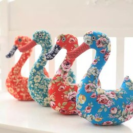 Wholesale Stitch Dolls - The new Swan Chinese style handmade cloth stitching Swan doll Home Furnishing decoration of Swan ornaments, plush toys, the price of a pa
