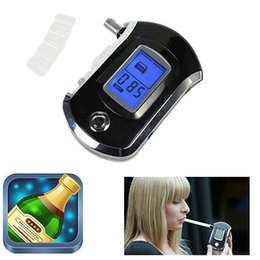 Wholesale Digital Breath Testers - Hot Selling Professional LCD Digital police breath alcohol tester analyzer detector breathalyzer test AT6000 with retail box dropshipping