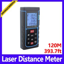 Wholesale Laser Display Color - High-precision Digital Laser rangefinder Color display Rechargeabel 120m Laser Range Finder distance meter tape measure MOQ=1 free shipping