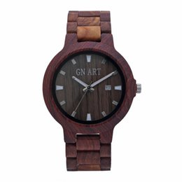 Wholesale Felt Roses - GNART Rose Gold Red Sandalwood men Wood Wooden Bracelet Watch Fashion feel is good trustworthy watch