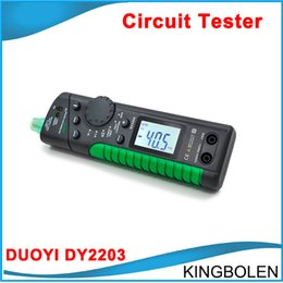 Wholesale audi electric - New released DUOYI DY2203 car Electric Vehicle Circuit Tester Automotive testing tool Capacity Tester Free Shipping